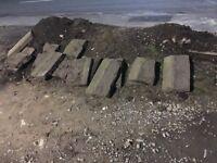 York edging stone 24 meters in length by 30cm