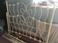 Shabby chic metal double bed frame £20