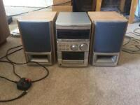 Stereo system with aux cable input