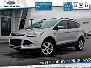 2014 Ford Escape **SE*AWD*CUIR*NAVI* CAMERA*A/C 2 ZONES**