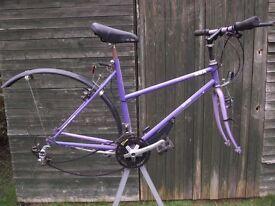 Vintage MBK Ohio (Motobecane) Ladies Hybrid Bike (NO WHEELS)