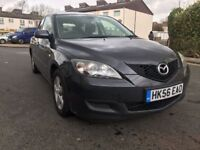 MAZDA 3 1.6 2007 / MANUAL / 79800 MILES / MARCH 2019 MOT / FULL SERVICE DONE 1ST APRIL 2018 / £1195