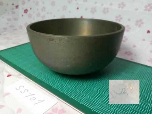 "Marked SAHARI 3.642"" Japanese Buddhist Bell SS101 Long and Short Wavelengths"