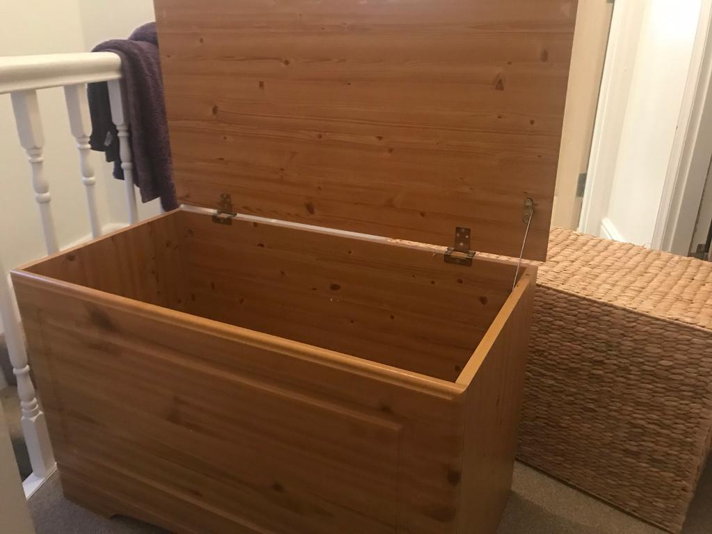 Pine solid storage/blanket/toy box   in Exeter, Devon   Gumtree