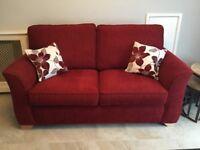 SCS Sofa / Sofa bed red