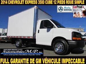 2014 Chevrolet Express 3500 CUBE 12 PIEDS  ROUE SIMPLE