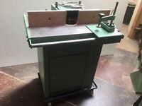 ARBOR SINGLE PHASE SPINDLE MOULDER WITH SLIDING TABLE
