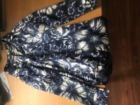 Blue and white flowered blazer