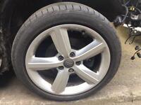 "Genuine 17"" Audi sport 5 spoke alloy wheels X4 A3 A4 5x112 PASSAT golf"