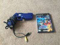 PlayStation 2 Time Crisis Game and Light Gun