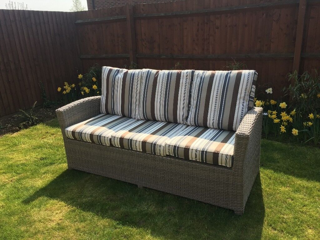 Marvelous Desser Outdoor Georgia Rattan 3 Seater Sofa Good Quality In Nuneaton Warwickshire Gumtree Download Free Architecture Designs Sospemadebymaigaardcom