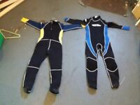 Boys large wet suits