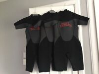 3 x No Fear Children's Wetsuits Age 9-10