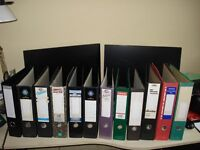 12 Lever Arch Files, Used, (3 x Foolscap & 9 x A4)
