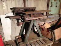 Vintage sawmill table saw with plank thicknesser and planer.