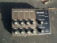 SOUND LAB AUDIO SYSTEM MICRO MIXER 4 CHANNEL