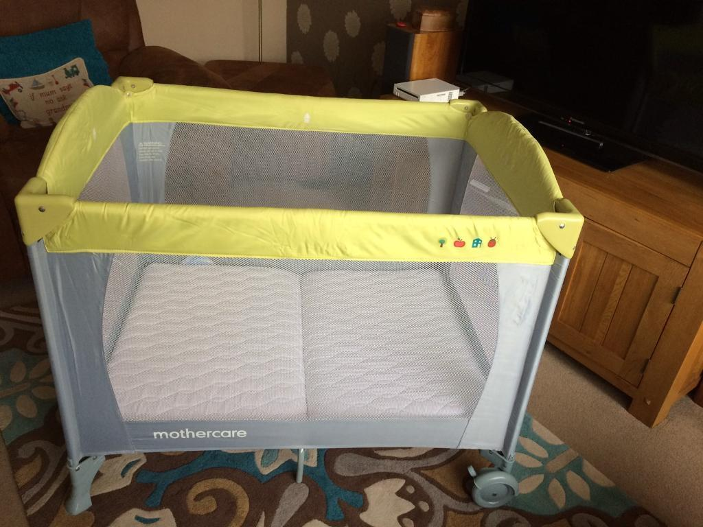 Mothercare travel cot and mattress