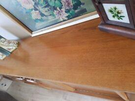Retro midcentury teak veneer sideboard