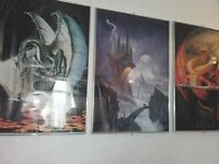 beautiful dragon pictures 2 foot x 3 Foot stainless steel frames