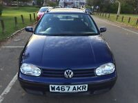 2000 Volkswagen Golf S 5dr Automatic Low Mileage 1 Owner From 2001 @07445775115
