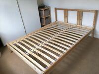 Double bed frame FJELLSE + slatted bedbase - IKEA