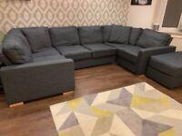 6 seater U shape sofa