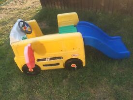 Little Tikes School Bus Activity Gym with Slide