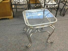 Glass and metal coffee table £25 #25383