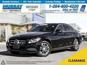 2016 Mercedes-Benz C-Class 4MATIC *Rear View Camera, Leather Sea