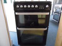 EX-DISPLAY HOTPOINT 60 WIDE BLACK CERAMIC TOP FREESTANDING COOKER REF: 31213