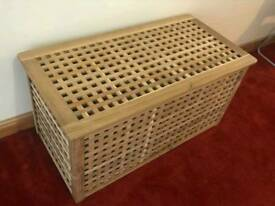 ikea HOL wooden storage Acacia coffee table
