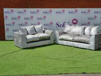 Brand new crushed velvet 3+2 seater sofa set with free matching footstool included🔥😍✅