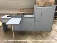 VW Volkswagen T4 T5 T6 LWB Transporter Camper Cabinets Kitchen Storage Unit Scribed