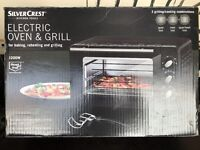 Small used black electric oven