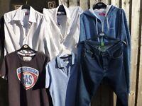 Levis White&Blue Strip Shirt-Size Large-£5