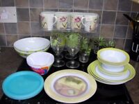 VIRTUALLY UNBREAKABLE GLASSES PLATES DINNER PLATES CUPS DISHES ETC