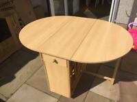Foldable dining table.