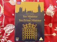 Yes Minister/Yes Prime Minister 5 DVD's New/Sealed