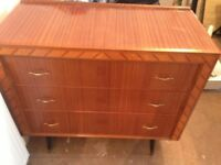 Vintage retro chest of drawers