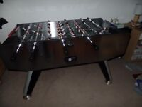 Full size football table with two balls. VGC no marks like new.