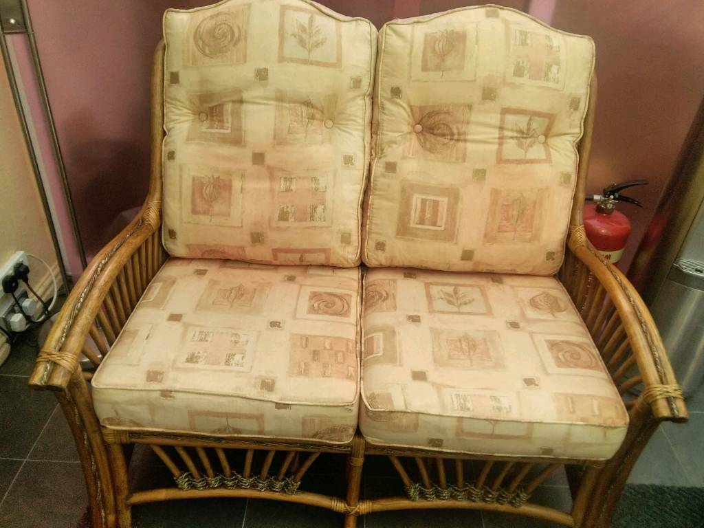 Cane Furniture Two Chairs And One Sofa A Table In Littleborough Manchester Gumtree
