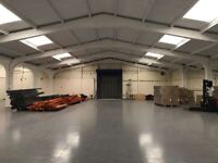 Huge, airy warehouse space available for storage of any size