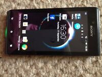 Sony Xperia J mobile phone,immaculate condition,bluetooth,iphone.