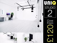 LONDON Infinity Cove Photo Studio Hire Rental Photography Video Casting Event Space Film Location