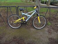 """Full Suspension Mountain Bike For Sale. Fully Serviced & Ready To Ride. Guaranteed. 18"""" Frame"""
