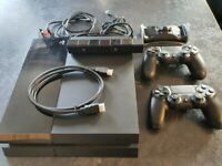 Playstation 4 (PS4) Console, 2 Controllers, Camera, Twin Charger, VR Charging Stand & 6 Games