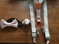 Page boy braces dickie bow and flower