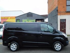 Finance Me..Ford Transit Custom Limited 270 Panther Black 125BHP. One owner from new!!! (52)