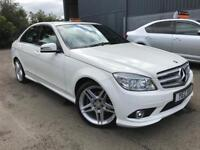 2009 Mercedes-Benz C-Class C250 AMG Sport Automatic White FINANCE AVAILABLE Only £7750