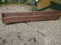 Rustic wood planter